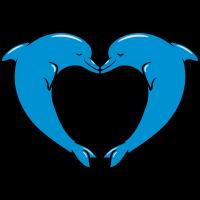 delfin liebe paar