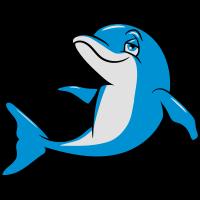 delfin witzig süss