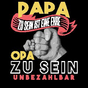 Herren Papa zu sein ist eine Ehre