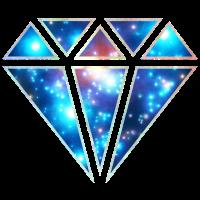 Diamant Symbol Dreieck, galaxy, infinity, space