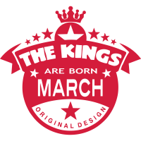 march kings born birth month crown logo