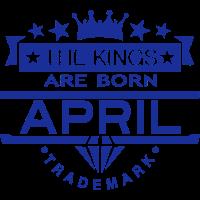 april kings born birth month crown logo