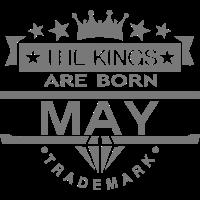 may kings born birth month crown logo