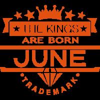 june kings born birth month crown logo