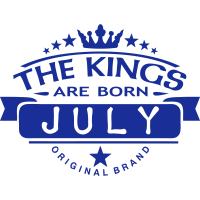july kings born birth month crown logo