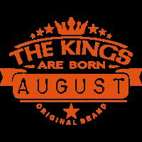august kings born birth month crown logo
