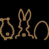 Ostern - Hase, Schaf, Ei