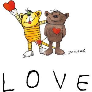 Janosch LOVE Schiftzug Tiger und Bär