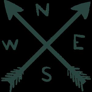 Kompass Pfeil Nord Ost Süd West