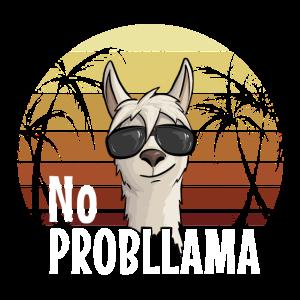 No ProbLlama Retro Style Hipster Lama Sonnenbrille