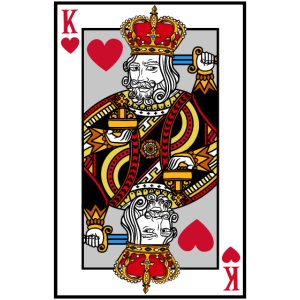 Blackjack Herz König T-Shirt Karten Poker Geld