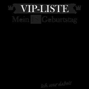 VIP Liste 18 Geburtstag Gästeliste zum Eintragen