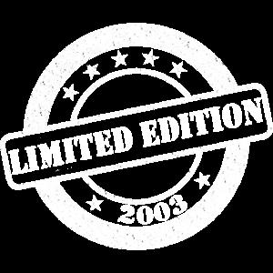Limited Edition Stempel Geburtstag 2003 Jahr