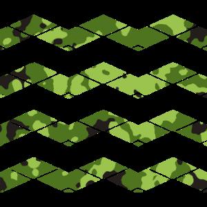 grünes Tarnmuster mit Wellen