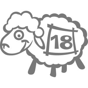 18 Schafe Zahl springt Zeichnung Konto