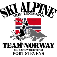 Alpine Ski - Norway Flag