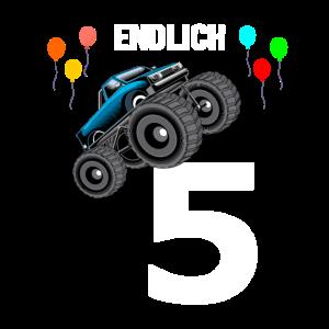 5. Geburtstag Monster Truck Auto 5 Jahre Geschenk