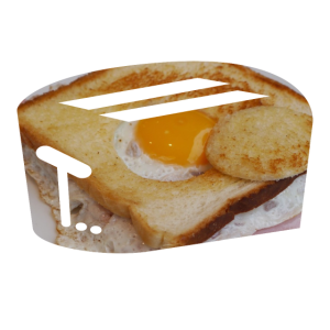 Toaster zum Frühstück Spiegelei