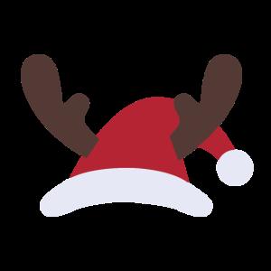 Weihnachten Weihnachtsmann Mütze Geweih