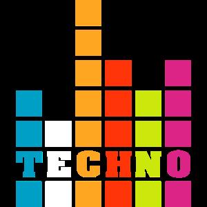 techno music beats club symbol