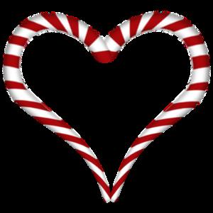 Zuckerstange Herz Weihnachten