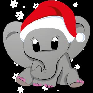 Weihnachten Elefant Elefantenbaby Babyfant Baby
