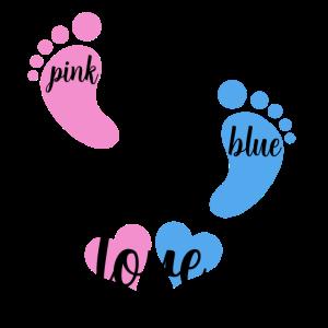 pink or blue we love you schwangerschaft baby