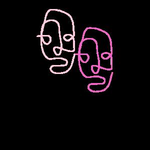 Strichzeichnung - line art - one line drawing
