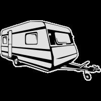 Wohnwagen, caravan, trailer (2 color)