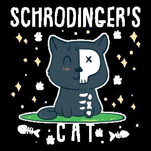 Schrödinger Katze Quanten Physik Wissenschaft Nerd