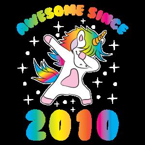 Einhorn Geburtstag Awesome Since 2010