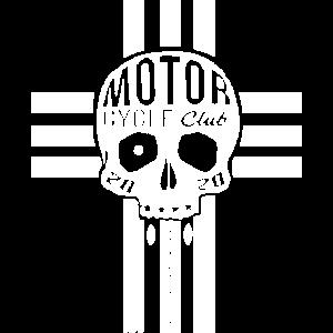 Totenkopf Biker T-Shirt 003 Schwarz