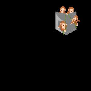 Affen in Tasche Brusttasche