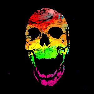 Schädel in Farbe