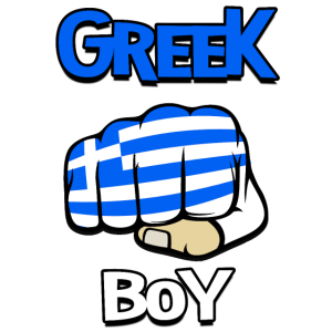 Greek Boy. Cool Greek Flag. Funny Greek vacation