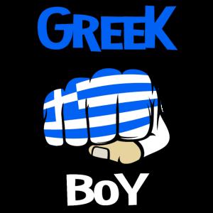 Greek Boy. Cool Greek Flag. Funny Greek vacation