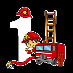 1 Jahr Alt Feuerwehrmann 1. Geburtstag Feuerwehr