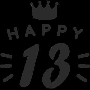 13. Geburtstag 13 Jahre alt Happy Birthday Spruch
