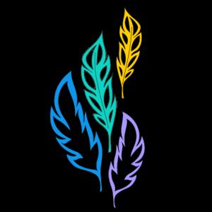 mehrfarbige abstrakte Federn