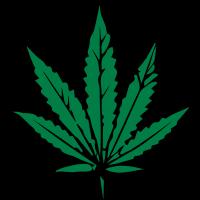 kiffen marihuana blatt design