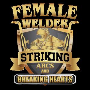 Female Welder Striking Arcs And Breaking Hearts
