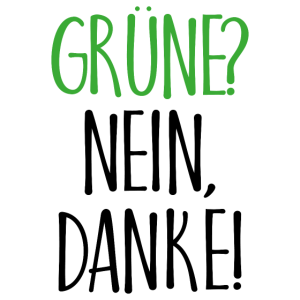 Grüne Nein Danke Geschenk
