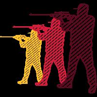 schütze gewehr zielen schiessen design