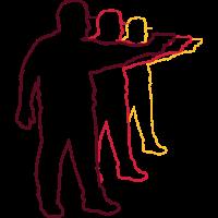 schütze pistole zielen schiessen design