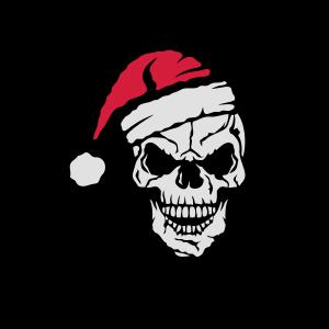 Schädel Frohe Weihnachten Weihnachtsmütze
