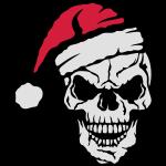 Cráneo Navidad gorra