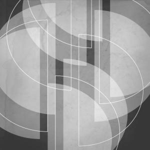 Abstraktes halbkreisförmiges Design in Anthrazit