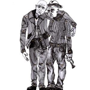 Älteres Paar, Musiker aus Pain Curator