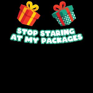 Hör auf meine Pakete anzustarren