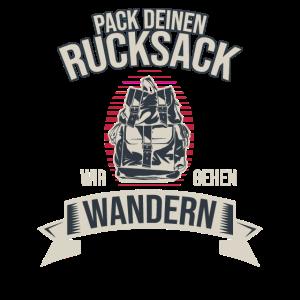 Wandern Backpacker Spruch Wanderer